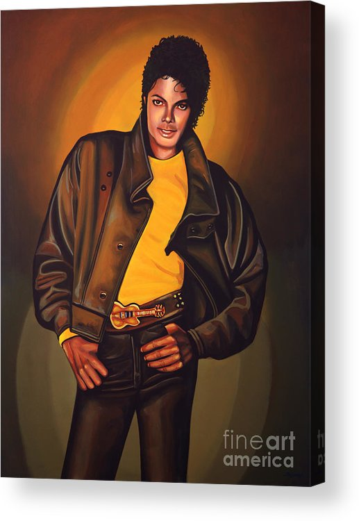 Michael Jackson Acrylic Print featuring the painting Michael Jackson by Paul Meijering