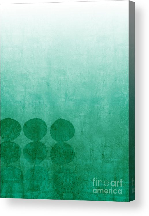 Abstract Acrylic Print featuring the painting Tranquility by Linda Woods