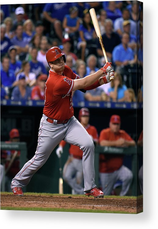 Ninth Inning Acrylic Print featuring the photograph Los Angeles Angels Of Anaheim V Kansas by Ed Zurga