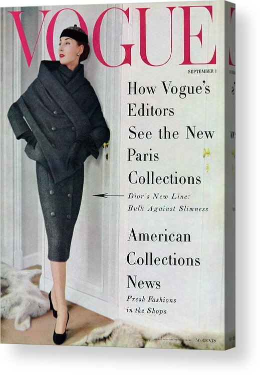 Fashion Acrylic Print featuring the photograph A Vogue Cover Of A Model Wearing A Dior Suit by Henry Clarke
