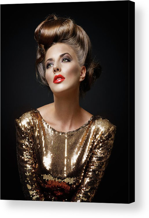 Cool Attitude Acrylic Print featuring the photograph Beautiful Woman by Millann
