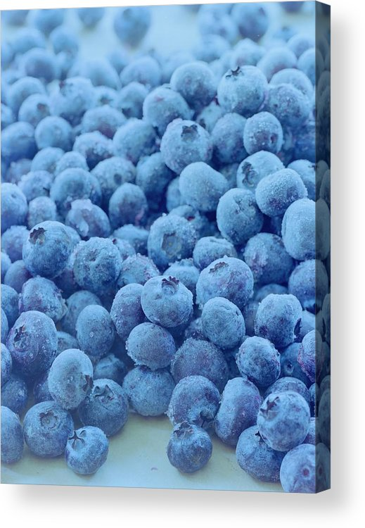 Berries Acrylic Print featuring the photograph Blueberries by Romulo Yanes