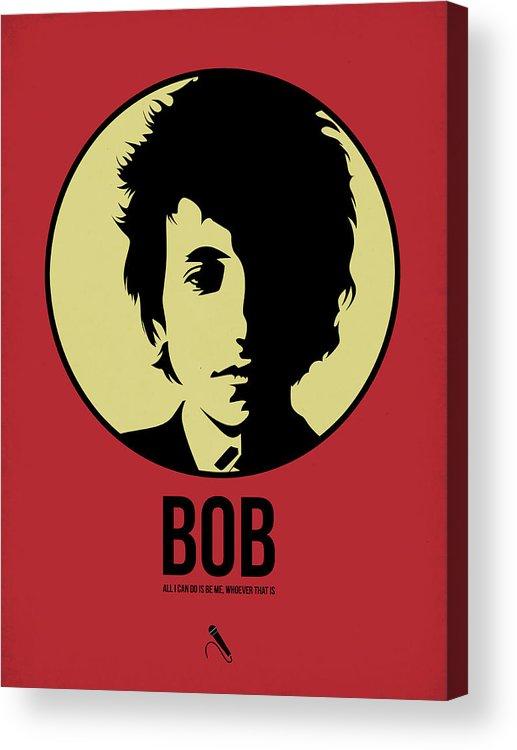 Music Acrylic Print featuring the digital art Bob Poster 1 by Naxart Studio