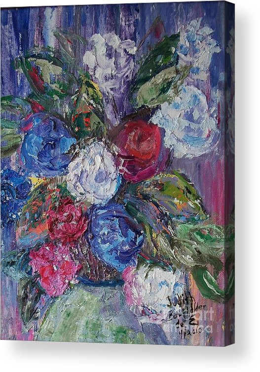 Bouquet Acrylic Print featuring the painting Bouquet 4 by Judith Espinoza