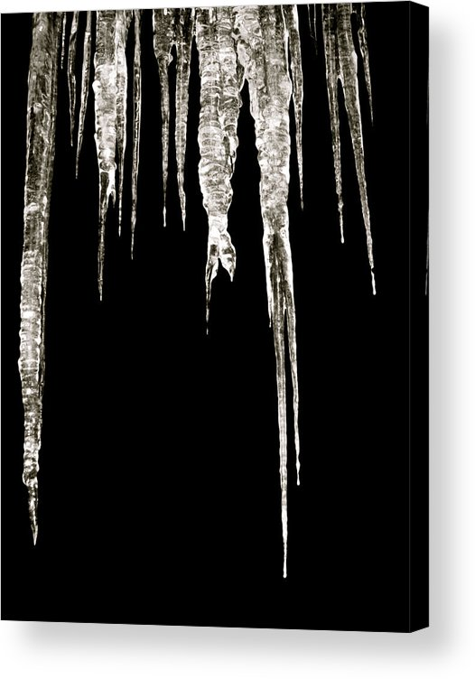 Icicle Acrylic Print featuring the photograph Dark Ice by Azthet Photography