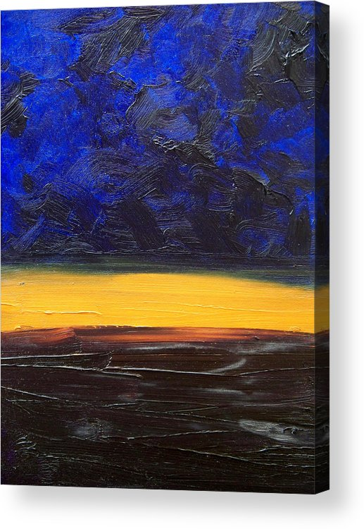 Landscape Acrylic Print featuring the painting Desert plains by Sergey Bezhinets