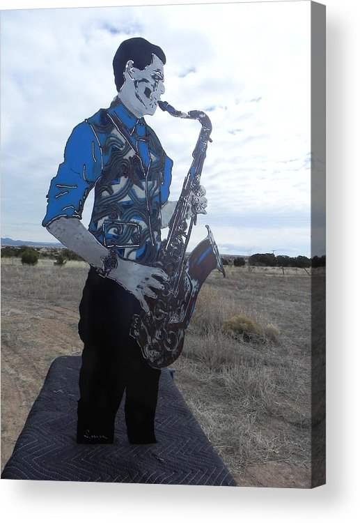 Steel Acrylic Print featuring the sculpture Good Sax by Steve Mudge