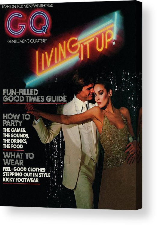 Dance Acrylic Print featuring the photograph Gq Cover Of A Couple In Disco Setting by Chris Von Wangenheim