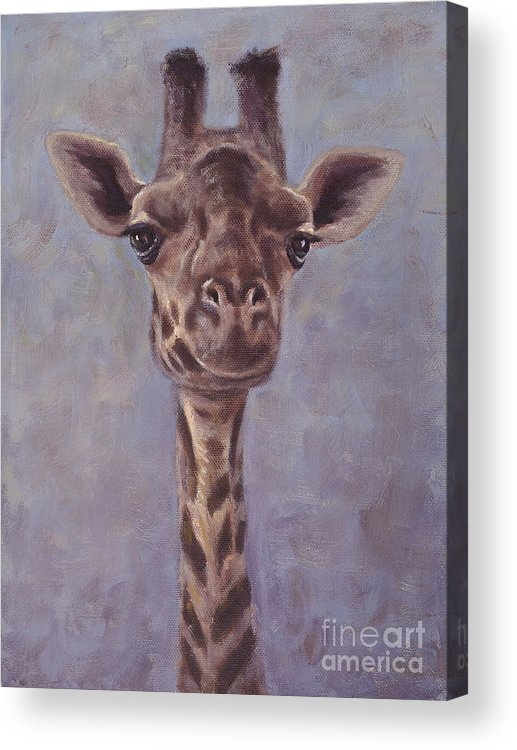 Giraffe Acrylic Print featuring the painting Here's Looking at You by Elizabeth Rieke Hefley