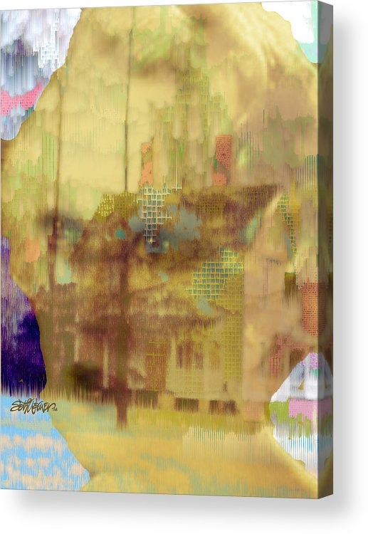 Home Is In Your Heart Acrylic Print featuring the digital art Home is in Your Heart by Seth Weaver