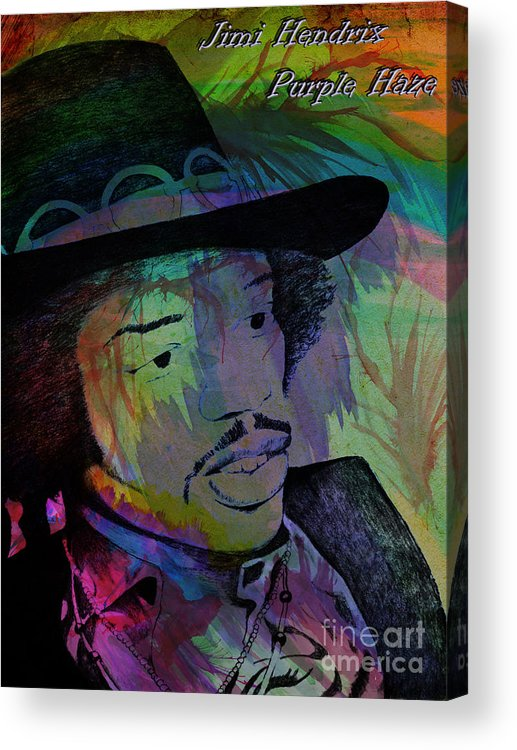 Street Acrylic Print featuring the photograph Jimi Hendrix Purple Haze by Gary Keesler