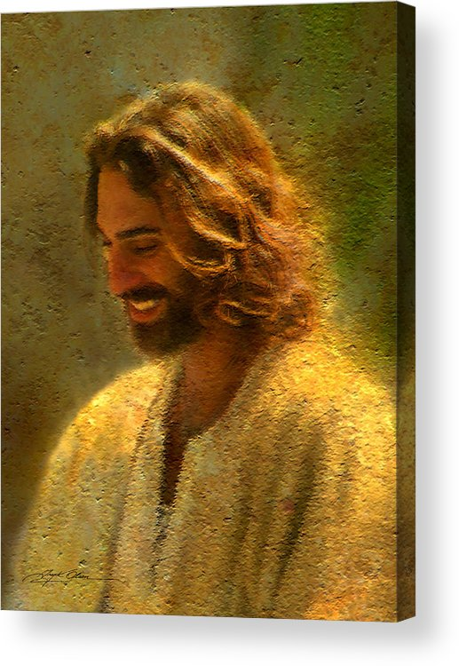 Jesus Acrylic Print featuring the painting Joy of the Lord by Greg Olsen