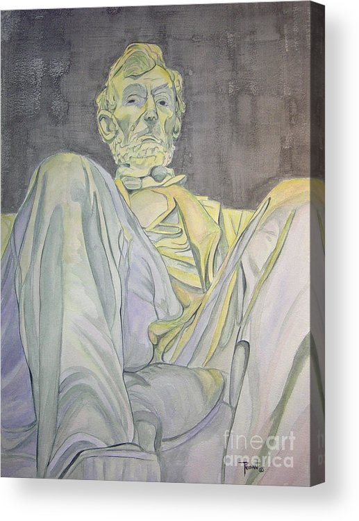 Presidents Acrylic Print featuring the painting Lincoln by Regan J Smith