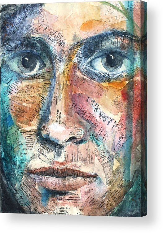 Art Acrylic Print featuring the painting Listperson IIi by Patricia Allingham Carlson