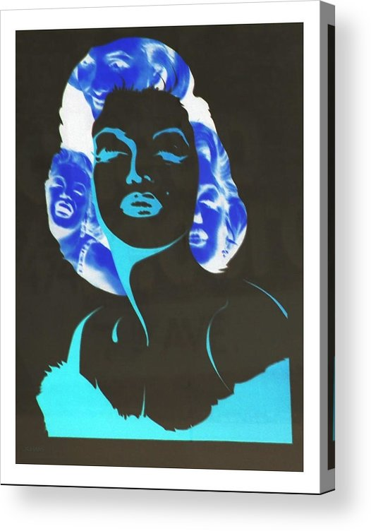 Marilyn Monroe Acrylic Print featuring the photograph M M I N N E G A T I V E O R I G I N A L by Rob Hans
