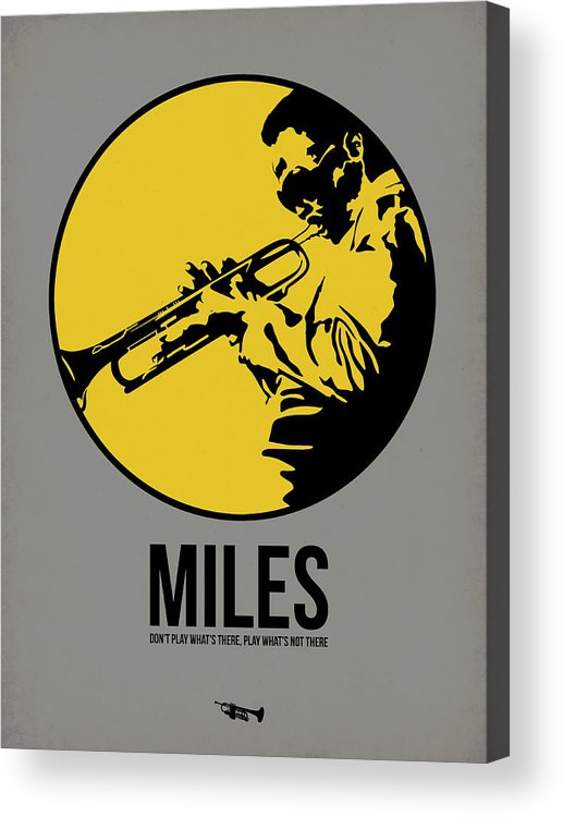 Music Acrylic Print featuring the digital art Miles Poster 3 by Naxart Studio