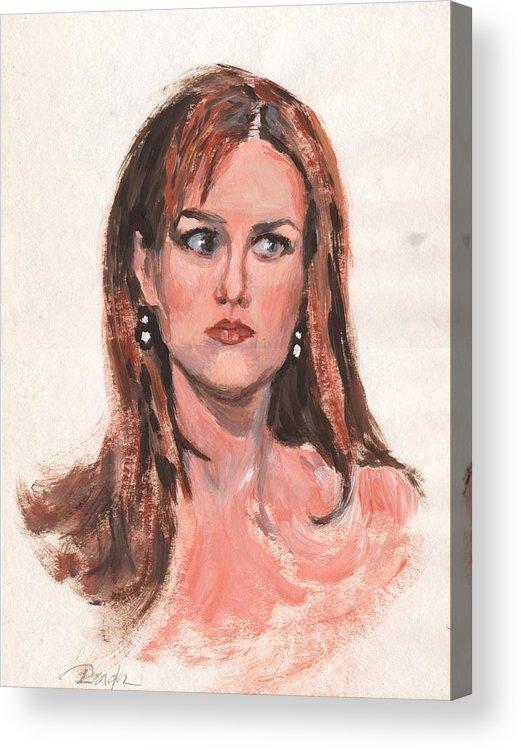 Acrylic Acrylic Print featuring the painting Mona Lisa de prisa by Horacio Prada