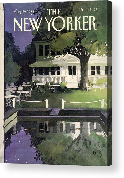 Household Acrylic Print featuring the painting New Yorker August 29th, 1988 by Arthur Getz