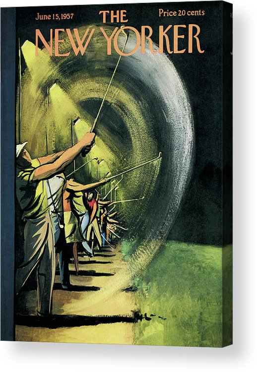 Golf Acrylic Print featuring the painting New Yorker June 15th, 1957 by Arthur Getz