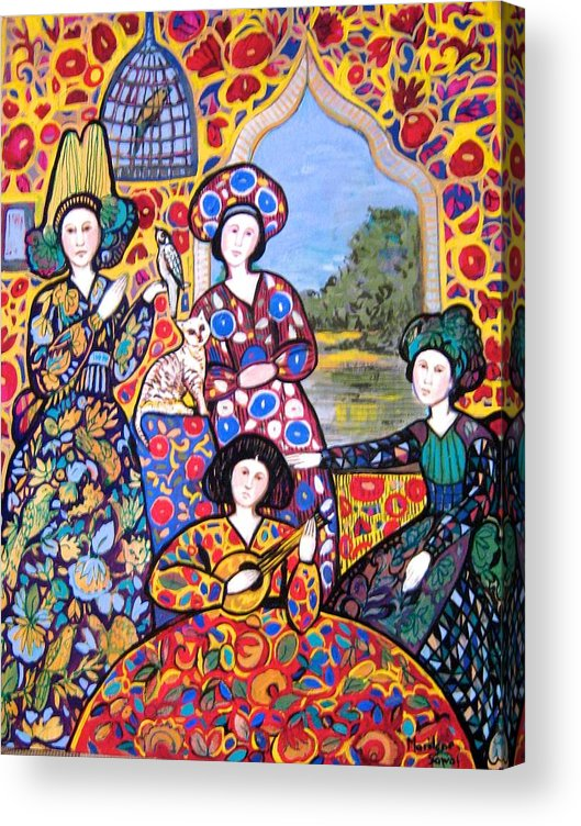 Persian Acrylic Print featuring the painting Persian Afternoon by Marilene Sawaf