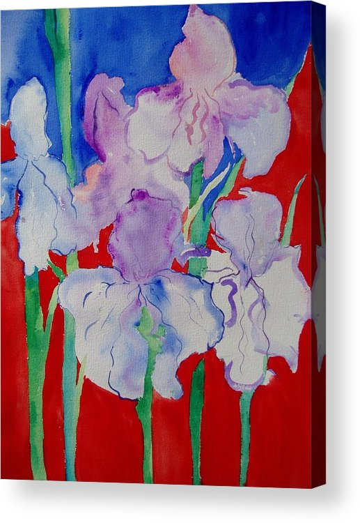 Bold Acrylic Print featuring the painting Royal Iris by Phoenix Simpson