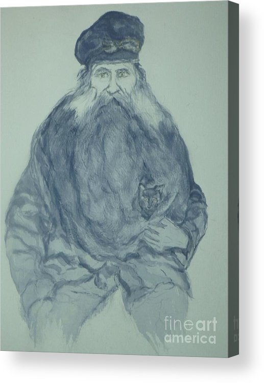 Sea Captain Acrylic Print featuring the painting Sea Captain by Nancy Caccioppo