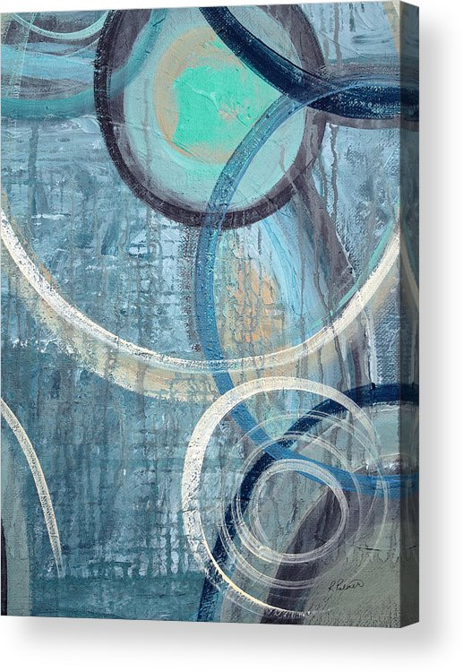 Abstract Acrylic Print featuring the painting Silent Drizzle by Ruth Palmer