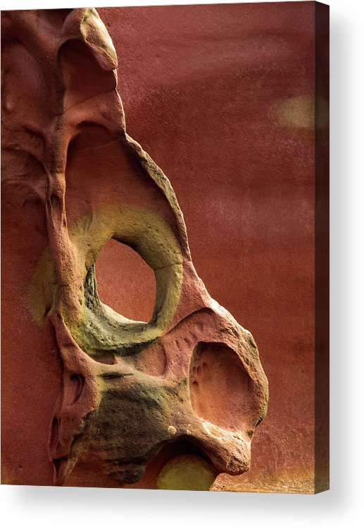 Geology Acrylic Print featuring the photograph Sinister Forms by By Mediotuerto
