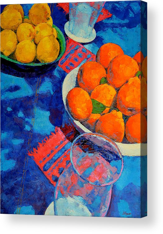 Still Life Acrylic Print featuring the painting Still Life 2 by Iliyan Bozhanov