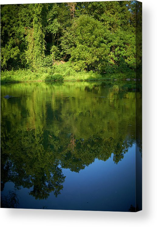 Tranquility Acrylic Print featuring the photograph Still Water On The Potomac River by Cameron Davidson