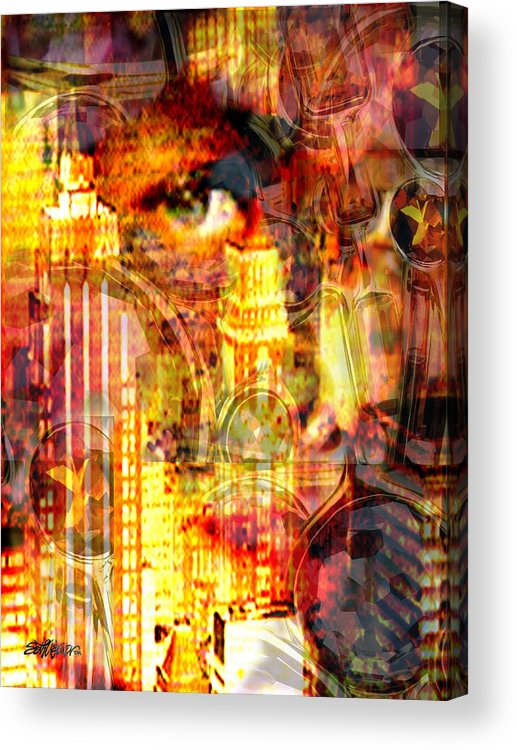 Big City Acrylic Print featuring the photograph Streetwalker by Seth Weaver