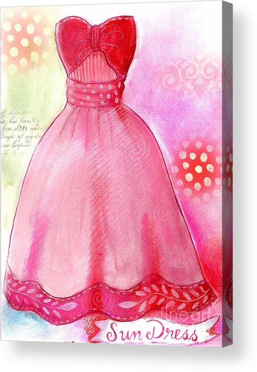 Dress Acrylic Print featuring the mixed media Sun Dress by Elaine Jackson