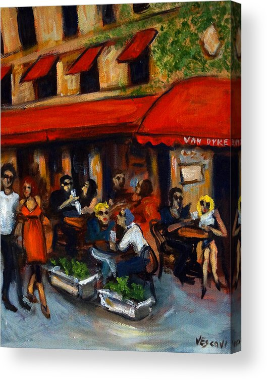 South Beach Acrylic Print featuring the painting Van Dyke Cafe by Valerie Vescovi