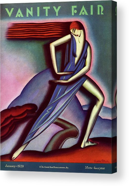 Illustration Acrylic Print featuring the photograph Vanity Fair Cover Featuring A Woman Dancing by Symeon Shimin