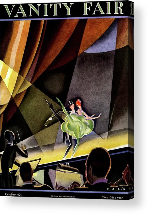 Illustration Acrylic Print featuring the photograph Vanity Fair Cover Featuring Two Performers by William Bolin