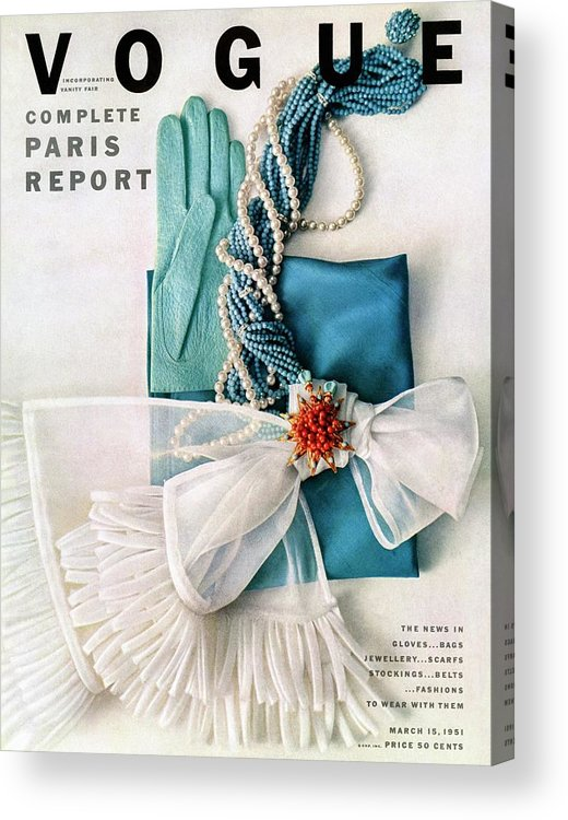 Accessories Acrylic Print featuring the photograph Vogue Cover Featuring Various Accessories by Richard Rutledge