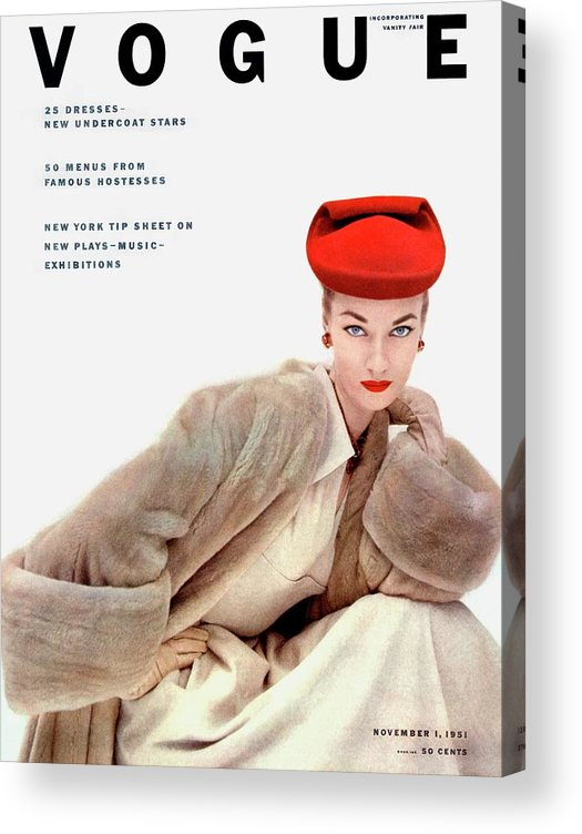Fashion Acrylic Print featuring the photograph Vogue Cover Of Janet Randy by Clifford Coffin