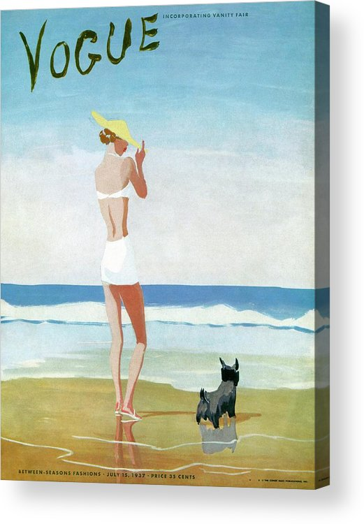 Animal Acrylic Print featuring the photograph Vogue Magazine Cover Featuring A Woman On A Beach by Eduardo Garcia Benito