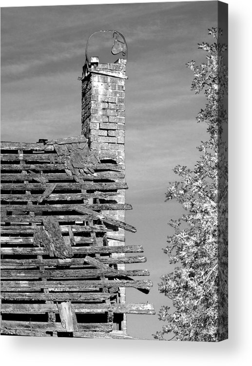Chimney Acrylic Print featuring the photograph Where Once There Was Warmth by Everett Bowers