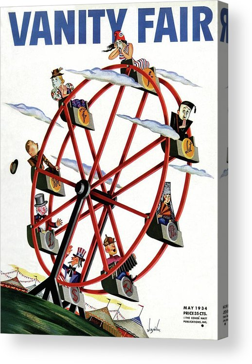 Illustration Acrylic Print featuring the photograph World Currencies Ferries Wheel by Constantin Alajalov