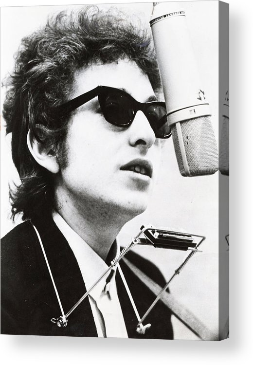 Retro Images Archive Acrylic Print featuring the photograph Young Bob Dylan by Retro Images Archive