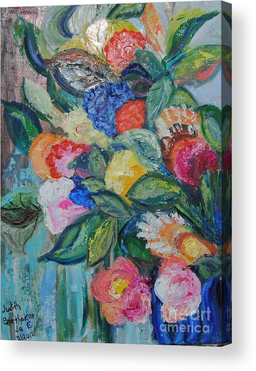Bouquet Acrylic Print featuring the painting Bouquet 5 by Judith Espinoza