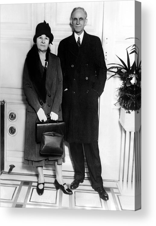 Clara Bryant Ford And Henry Ford Acrylic Print by Everett