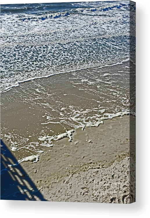 Oak Island Acrylic Print featuring the photograph Patterns by Beebe Barksdale-Bruner