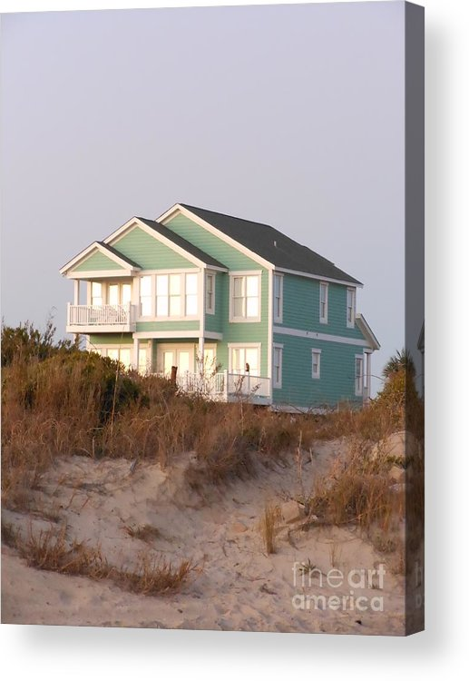Taffy Colored Acrylic Print featuring the photograph Reflections from a Beach House by Beebe Barksdale-Bruner