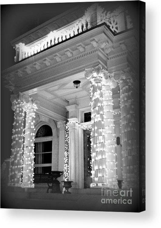 Black And White Acrylic Print featuring the photograph The Regular Way Then ... by Nancy Dole McGuigan