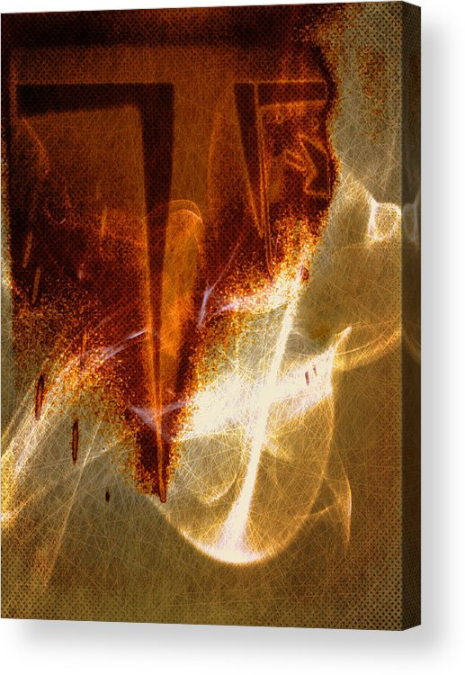 Abstract Acrylic Print featuring the digital art Variation in tones by Joseph Ferguson