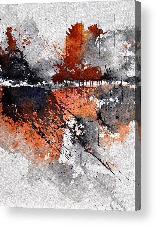 Abstract Acrylic Print featuring the painting Watercolor 217031 by Pol Ledent