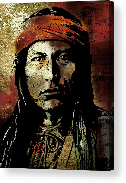 Native American Acrylic Print featuring the painting Naichez by Paul Sachtleben