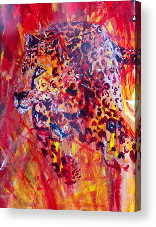 Panther Acrylic Print featuring the painting Panther by Anne Weirich